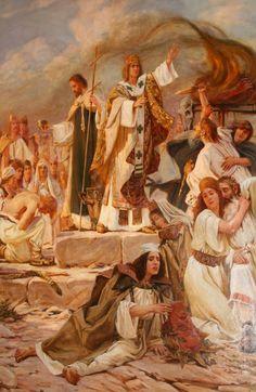 """Pokrštenje Hrvata"" (Christianization of the Croats) by Croatian painter Bela Čikoš Sesij, is that the people always look unwilling to be co..."