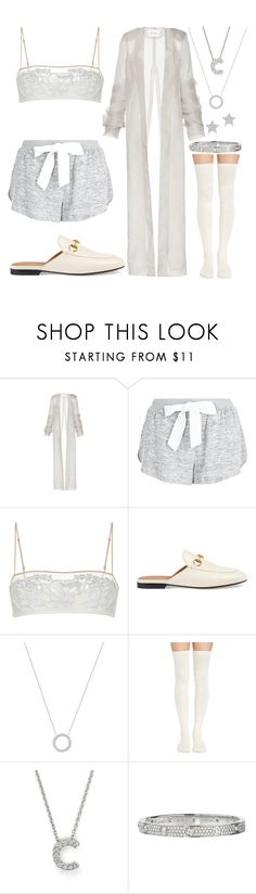 """""""Untitled #203"""" by skyelabeaumont ❤ liked on Polyvore featuring New Look, La Perla, Gucci, Michael Kors, Roberto Coin, Cartier and Diamond Star"""