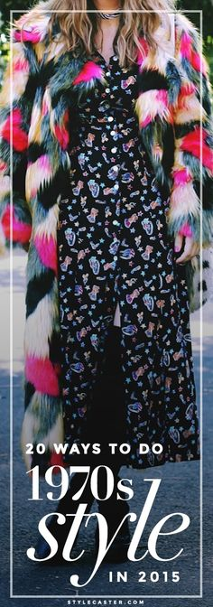 Trending Boho: How to dress like a bohemian babe in the year From flares to fringe—here's how to modernize this look. Seventies Fashion, 70s Fashion, Vintage Fashion, Fashion Tips, 70s Outfits, Vintage Outfits, 2015 Fashion Trends, 2015 Trends, Vintage Glam