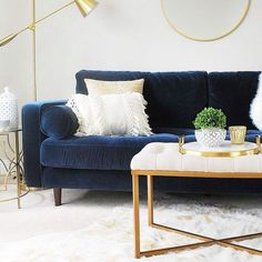 Like Living Room Furniture Layout Living Room Decor furniture Homestyling layout Living LivingRoomMakeover Room Blue Couch Living Room, Living Room Furniture Layout, Living Room Designs, Blue And Gold Living Room, White Gold Room, Modern Living Room Decor, Living Area, Furniture Retailers, Quality Furniture