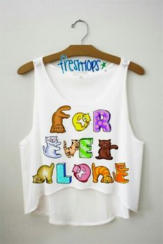 For Ever Alone crop top from FRESH TOPS