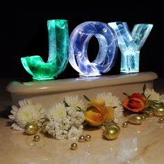 Colour Change Light Sculpture - 3 Rainbow Letters £29.95 JOY!!