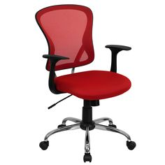 The U201cFlareu201d These Cool Desk Chairs (in Red) Sport A Contemporary Open