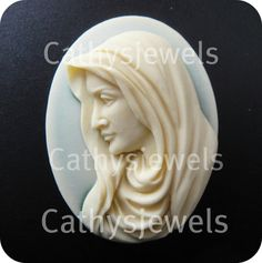 The Lords Mother Cameo  40x30 by Cathysjewels on Etsy (Craft Supplies & Tools, Jewelry & Beading Supplies, Beads, 30x40, 40x30, cameo, cameos, scrapbooking, cabochon, plastic, mother, christmas, loose cameo, unset cameo, button, setting)
