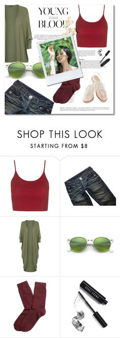 """""""Daily Look"""" by rintintin-diem ❤ liked on Polyvore featuring Topshop, Thomas Wylde, Rachel Antonoff, WearAll, Ray-Ban, Brooks Brothers, Anja, Bobbi Brown Cosmetics, ootd and fashionset"""