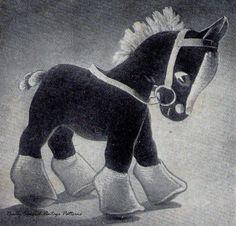 1940s Horse Toy  Vintage Sewing Pattern  PDF  by PamoolahVintage, $3.50