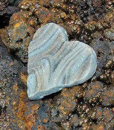Amazing Heart Shaped Brazilian Chalcedony Druzy by LaveoBeads