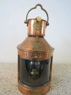 Old British Mast Head Copper SHIPs Lantern | eBay