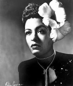 Billy Holiday. Flower in the hair.