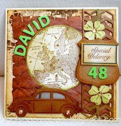 Marianne Design Kreadiva´s: Designer of the month # 7 Tolle VW Karte Marianne Design, Masculine Cards, Designer, Creations, Frame, Volkswagen, Inspiration, Man Card, Cards