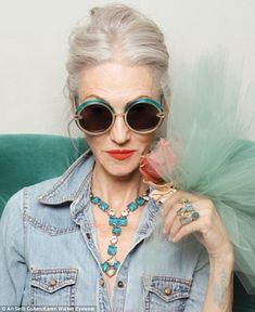 Designer Karen Walker casts SENIORS to model her colorful new sunglasses collection