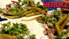 Tacos con Carne Asada  Use a secret family marinade, as shared by Angelica, to make out-of-this-world carne asada. Try these tacos with HERDEZ® Salsa Casera or HERDEZ® Salsa Verde for even more authentic flavor and spice.