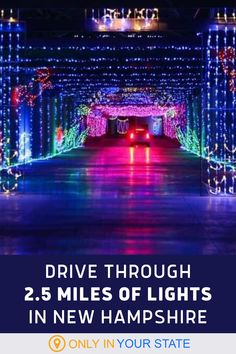Looking for fun, family-friendly things to do this holiday season? Kids and adults alike will love driving through over 2 miles of colorful Christmas lights in New Hampshire. It's a great winter day trip with tunnels of lights, holiday scenes, and dozens of displays. Christmas Light Displays, Christmas Lights, Local Attractions, Winter Kids, Winter Travel, New Hampshire, Holidays And Events, Day Trip, Road Trips