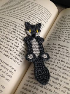 Wolf or Fox Bookmark - Crochet Pattern