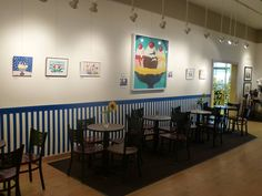 The Cafe is decorated for the Banana Split Festival. View our full menu at http://latrobeartcenter.org/cafe/ #cafe #food #latrobe