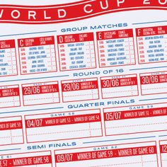 Crispin Finn's World Cup 2014 Planner: Keep track of this year's colossal FIFA sporting event with the London design duo's handsome wall print
