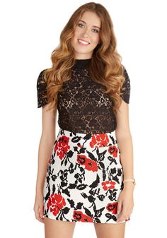 Cute skirt - Belle of the Bistro Skirt #modcloth