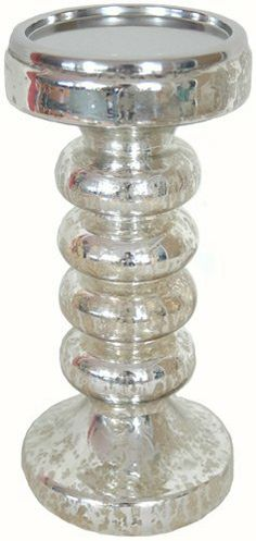 Candle Holder Bubble 11 Inch X 5 Inch Silver by Backyard Bargain. $19.99. Silver Candle Holder.. 100% Glass.. Sold Individually.. Home Décor Colors.. Make any room romantic with this gorgeous piece.All of your friends will be asking where you got this unique piece of glass.Silver Candle Holder.Sold Individually.100% Glass.Home Décor Colors.