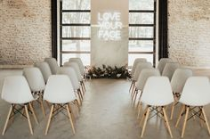 In the Millennial Pink: Modern Inspiration with Classic Appeal - Green Wedding Shoes Wedding Venues Texas, Wedding Reception Locations, Wedding Ceremony Decorations, Wedding Arches, Ceremony Backdrop, Wedding Decor, Wedding Flowers, Industrial Wedding Inspiration, Yosemite Wedding