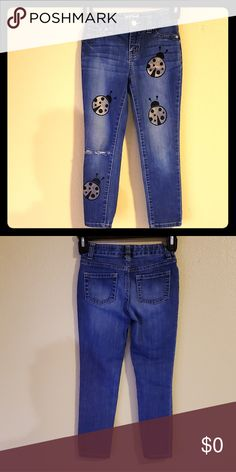 f0f5865f0d2 5  25 Girls Golden Ladybug Jeans Size 6 Hand Painted Golden Ladybug Jeans  Size 6 Girls. Bundle kids items 5 for  25 Cat   Jack Bottoms Jeans