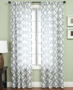 Softline Window Treatments, Samara Burnout 55 x 120 Panel - Extra-Long Curtains - for the home - Macy's Extra Long Curtains, Sheer Curtains, Bedroom Curtains, Drapery Panels, Panel Curtains, Pattern Curtains, Window Panels, Door Design, House Design