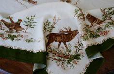 Walterscheid Tablecloth Hunting Animals by AstridsPastTimes, $22.99