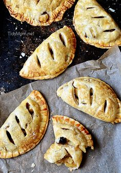 Apple Berry Handpies recipe at TidyMom.net