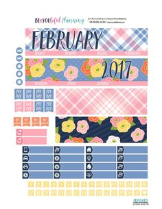 February Monthly - Free Printable - BEaYOUtiful Planning