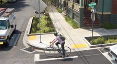 stormwater filtration as part of bikeway traffic calming