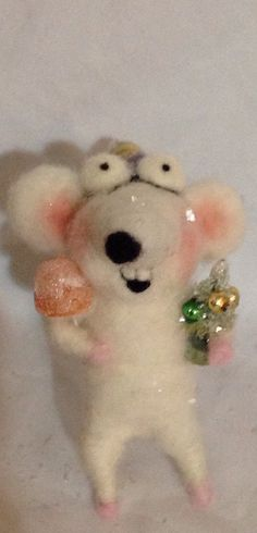 Christmas RAT ooak art doll by papermoongallery on Etsy