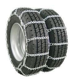 Glacier Twist-Link Snow Tire Chain with Cam Tighteners for Dual-Wheeled Light Trucks - 1 Axle Set Glacier Tire Chains Dually Wheels, Snow Chains, 4x4 Accessories, Dodge Vehicles, Cl Shoes, Bug Out Vehicle, Twist Styles, Truck Tyres, Cross Chain