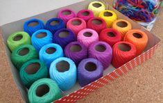 Kit de Linhas para Crochê - 24 cores