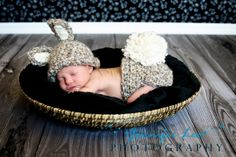 Crochet Baby Bunny Hat Newborn Crochet Hat and by properbaby, $35.00