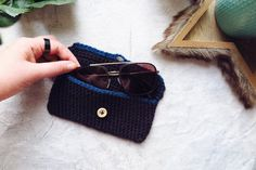 Wooden Sunglasses, Sunglasses Case, Crochet Laptop Sleeve, Handmade Items, Handmade Gifts, Neutral Colors, Free Gifts, Pouch, Gift Wrapping