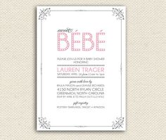 Items similar to Printable Sweet Baby Shower invitations, Baby Shower Invitations, Baby Shower, Bebe, Baby shower invites on Etsy Baby Shower Invitations, Invites, Pottery Barn Kids, Rsvp, Bebe Baby, Printable, Handmade Gifts, Sweet, Baby Showers