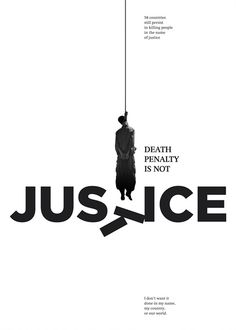 fact - the death penalty teaches the condemned nothing. It is a selfish charge meant to bring shambled solace to vengeful citizens in America. on social issues Protest Posters, Political Posters, Visual Metaphor, Social Awareness, Creative Advertising, Messages, Grafik Design, Typography Poster, Graphic Design Inspiration