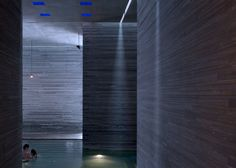 Image 8 of 49 from gallery of Peter Zumthor's Therme Vals Through the Lens of Fernando Guerra. Photograph by Fernando Guerra Peter Zumthor, Thermal Vals, Home Spa Decor, Embodied Energy, David Chipperfield Architects, Cladding Materials, Woodland House, Bath Photography, London Design Festival