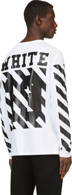 Off-White White & Black Printed Virgil Abloh Edition Shirt