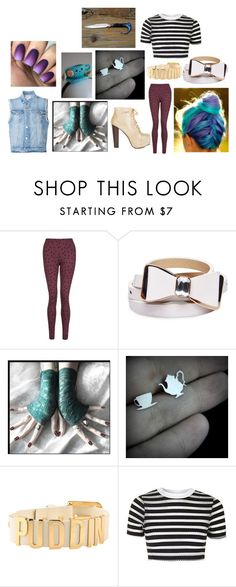 """""""Hunter High/Madeline Hatter #1"""" by phoenix-fox ❤ liked on Polyvore featuring Wet Seal, Retrò, Topshop and Frame"""