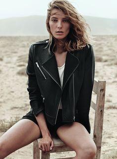 Ramoneska czarna skórzana - Moda Styl