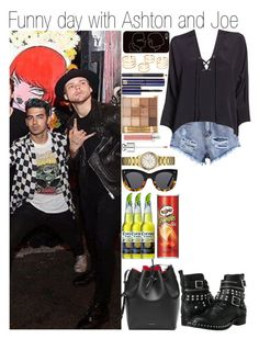 """""""Funny day with Ashton and Joe"""" by linusya-badoeva ❤ liked on Polyvore featuring art"""