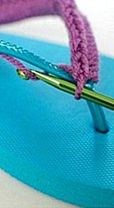 Crochet Flip Flops Tutorial ❊