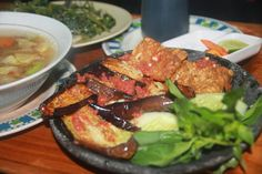 Sambal terong Indonesian Cuisine, Pork, Meat, Kale Stir Fry, Indonesian Food, Pork Chops