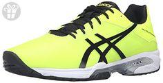ASICS Men's Gel-Solution Speed 3 Tennis Shoe, Safety Yellow/Black/White, 13 M US (*Amazon Partner-Link)