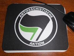Antifaschistische Aktion Mouse Pad   Blasted Rat