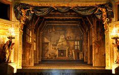 Theatre de la Reine Versailles Queens Theatre, Inside Castles, Vaux Le Vicomte, Little Theatre, Baroque Design, Palace Of Versailles, Rustic Cottage, Opera Singers, Country Estate