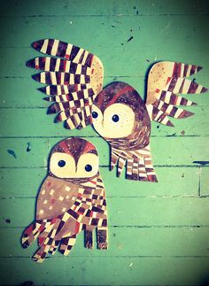 Chris Milk Hulburt is a Richmond based artist who paints on a non-traditional canvas - scrap woods. Northern Spotted Owl, Owl Art, Figure Painting, Rooster, Milk, Collage, Birds, Shapes, Sculpture