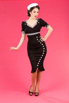 Salina-Lou - Retro sailor stretch skirt