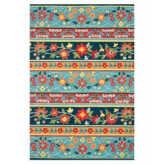 Talia Rug, love the color combos