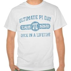 Embrace your inner geek. Pi Day 2015 commemorative shirt.
